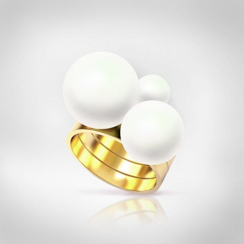 fehér gyűrű